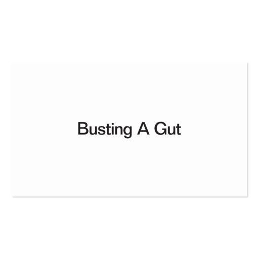 Busting A Gut Business Card Template