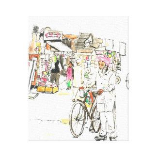 Bustling India Canvas Print