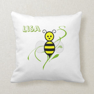 Busy As A Bee Honeybee Personalized Pillow Cushions