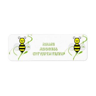 Busy As A Bee Honeybee Return Address Label
