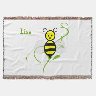 Busy As A Bee Personalized Throw Blanket