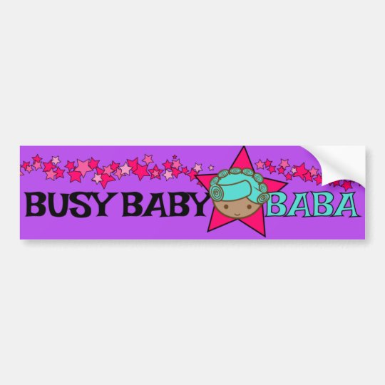 BUSY BABY BABA bumper sticker