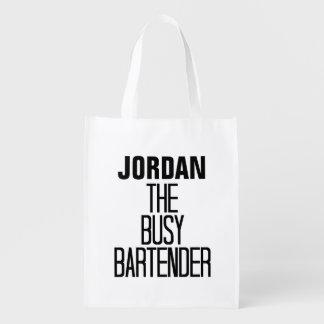Busy Bartender Reusable Grocery Bag