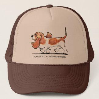 Busy Basset Hound Trucker Hat