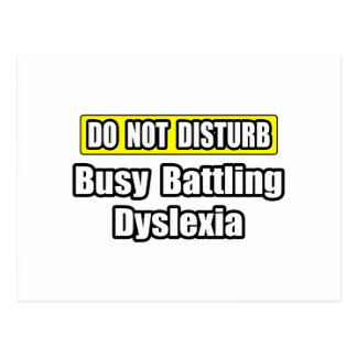 Busy Battling Dyslexia Post Cards