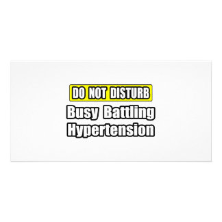 Busy Battling Hypertension Photo Card Template
