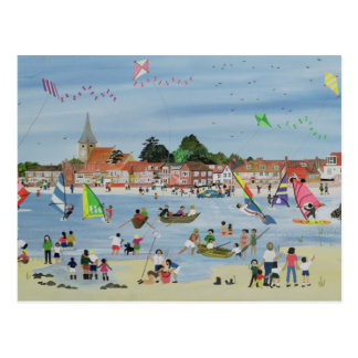 Busy Beach Postcard
