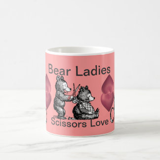 Busy Bear Ladies' Happy Hairstyle Misbehaviour.... Basic White Mug