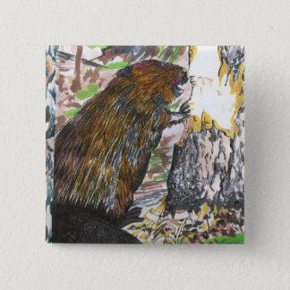 Busy Beaver 15 Cm Square Badge
