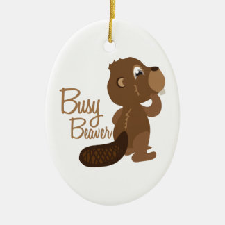 Busy Beaver Christmas Ornament