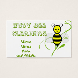 Busy Bee Clip Art Business Card