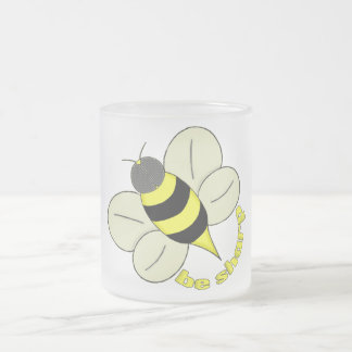 Busy bee frosted glass coffee mug