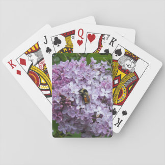 Busy Bee on a Lilac Playing Cards