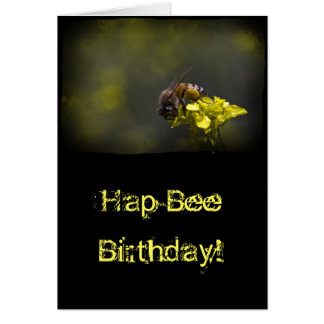 Busy Bee on Black Birthday Card