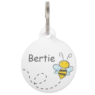 Busy Bee Pet Name Tags