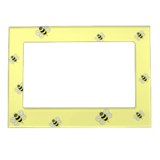 Busy bee picture frame magnets