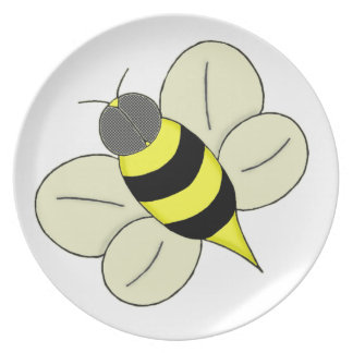 Busy bee plate