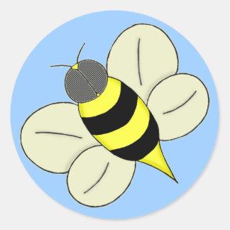 Busy bee round sticker