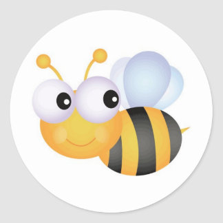 Busy Bee Round Sticker