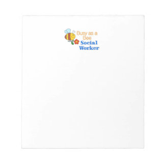 Busy Bee Social Worker Notepad