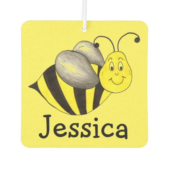 Busy Bee Yellow Bumblebee Personalised Insect Car Air