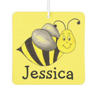 Busy Bee Yellow Bumblebee Personalized Insect Car Air Freshener