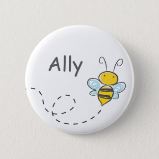 Busy Bumble Bee 6 Cm Round Badge