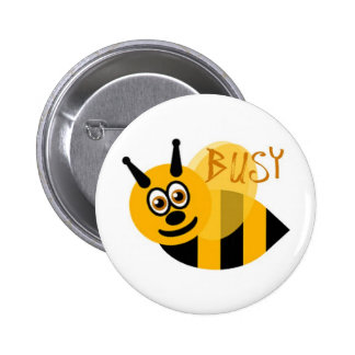 Busy Bumble Bee Cute 6 Cm Round Badge