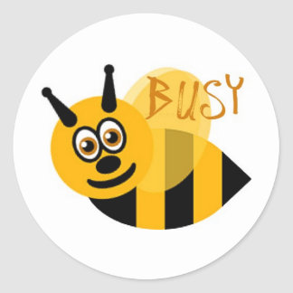 Busy Bumble Bee Cute Classic Round Sticker