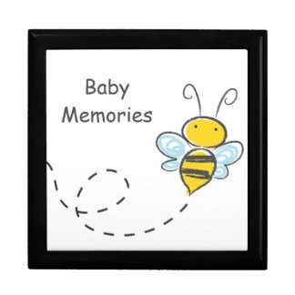 Busy Bumble Bee Large Square Gift Box