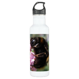 Busy Bumblebee and Pink Flowers 710 Ml Water Bottle