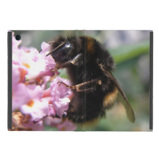 Busy Bumblebee and Pink Flowers iPad Case