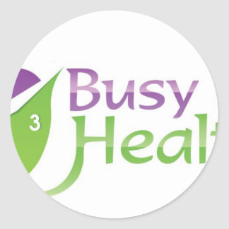 Busy But Healthy Round Sticker