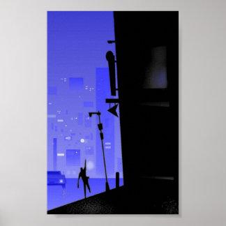 'busy city corner' poster