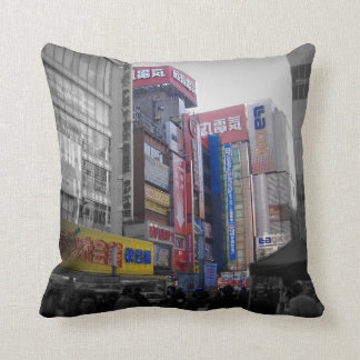 Busy intersection in Tokyo Cushion