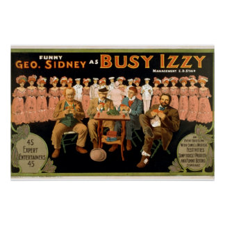 Busy Izzy Vintage Theater Poster