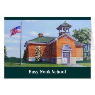 Busy Nook School Card