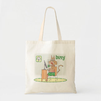 Busy, on St Patrick's Day Canvas Bags