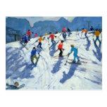 Busy Ski Slope Lofer 2004 Postcard