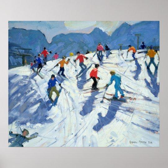 Busy Ski Slope Lofer 2004 Poster