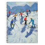 Busy Ski Slope Lofer 2004 Spiral Notebook