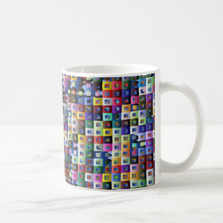 Busy Squares Coffee Mugs