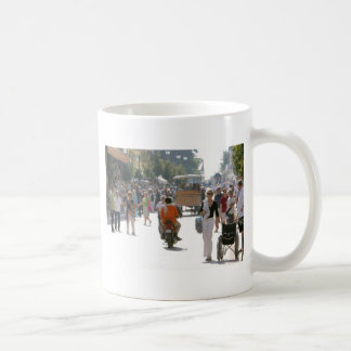 Busy street in Katakolon Greece Coffee Mug