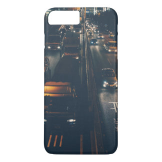 Busy streets of a city at night iPhone 7 plus case