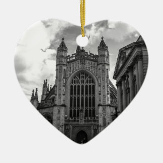 Busy streets of Bath Ceramic Heart Decoration