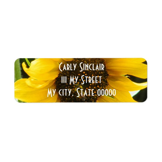 BusyBee_Accented Edges Return Address Label