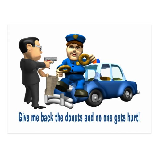 But Cops Love Donuts Post Card