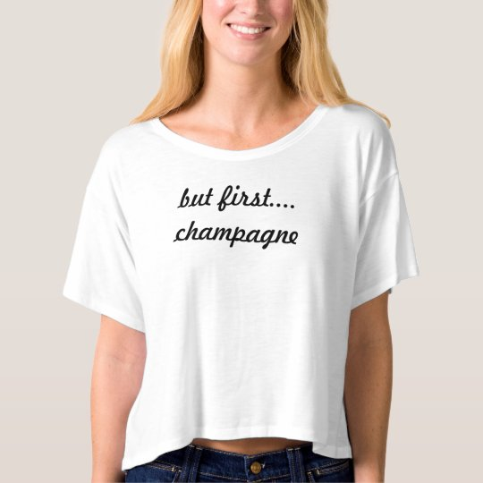 but first champagne haute crop top