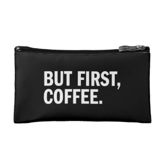 But First Coffee Cosmetics Bags