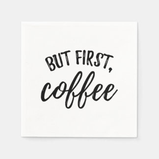 But First Coffee Cocktail Napkins Paper Napkin